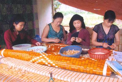 Sản xuất chiếu tre (chiếu trúc) tại Việt Nam