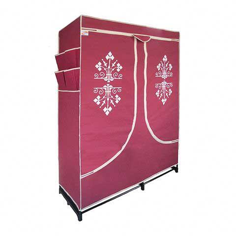 Tủ vải đựng quần áo có kệ dép 120x170cm