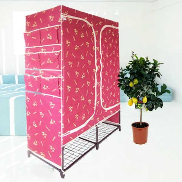 Tủ vải đựng quần áo có kệ để dép 100x160cm